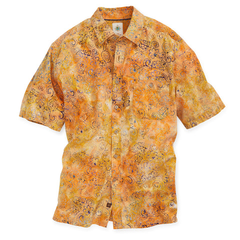 Tropical Abandon Batik Print Shirt - Tall