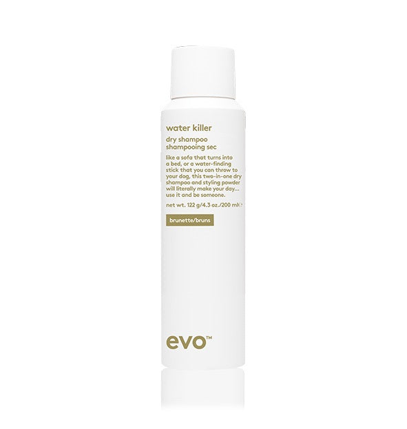 EVO - WATER KILLER DRY SHAMPOO BROWN 200ML - Frisøren & Baronen
