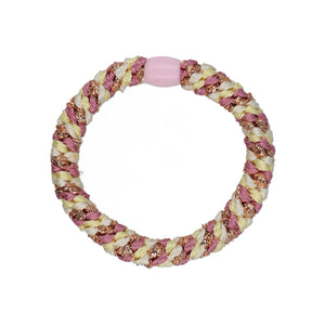 By Stær Hairties – Multi Pastel Yellow, Rosa Glitter