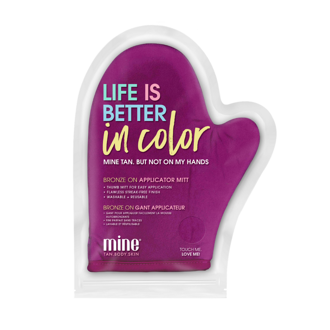 Minetan Life Is Better In Color Applicator Mitt