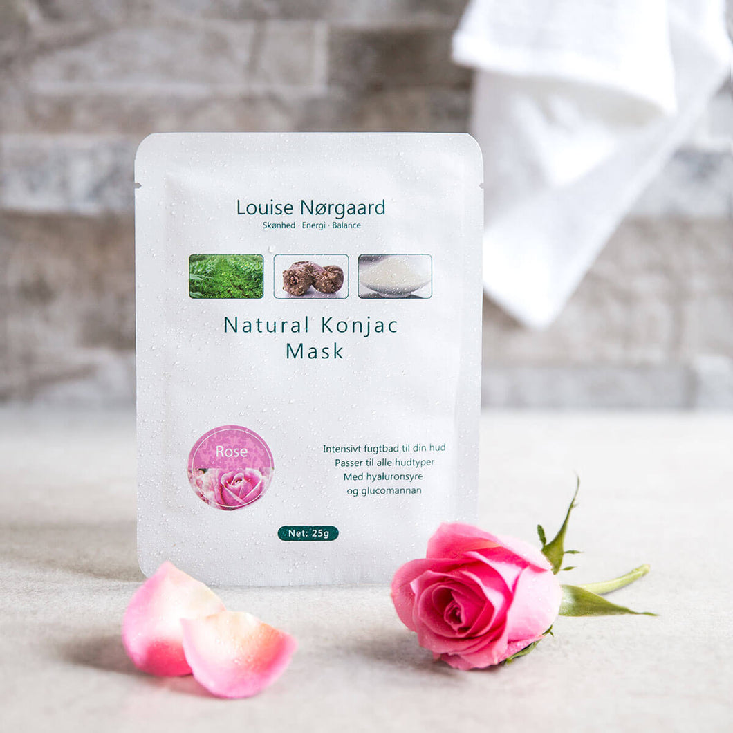 Organic Konjac Mask – Rose