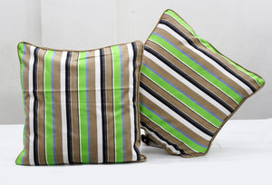 Woven Stripe Cotton Cushion Cover - Multicolor
