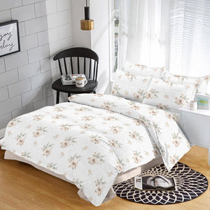 SAPPHIRE 180 TC Cotton Brown Floral Duvet Cover/Quilt Cover