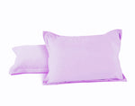 "Aurave Cotton Satin 400 TC Pillow Cover (18""x27""_Lavender)"