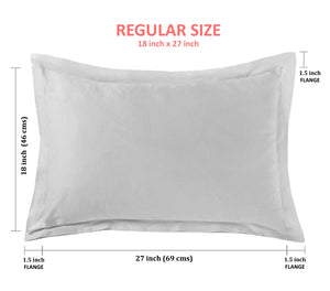 "Aurave Cotton Satin 400 TC Pillow Cover (18""x27""_Maroon)"