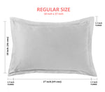 "Aurave Cotton Satin 400 TC Pillow Cover (18""x27""_Taupe)"