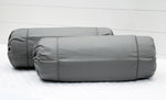 AURAVE Excel Cotton 2 Pieces Plain Bolster Cover Set - 15 X 30 inches, Grey