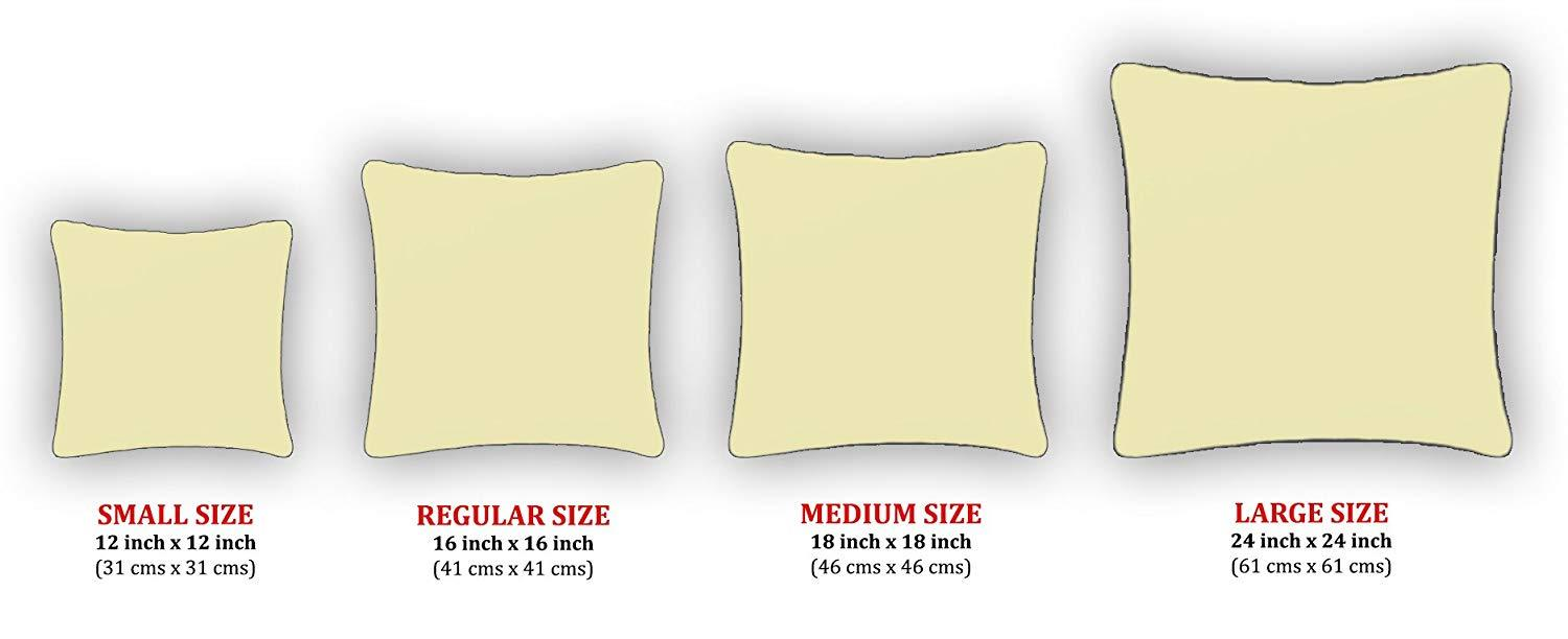 AURAVE Excel Cotton 1 Piece Decorative Plain Cushion Cover - Mustard