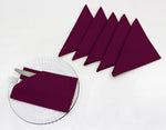 "AURAVE Cotton 220 TC Table Napkins (16""x16""_Burgundy)"