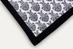 AURAVE Embara Cotton Damask Pattern Reversible Dohar,1 Piece - Black