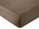 Waterproof Cotton Terry Mattress Protector - Coffee Brown