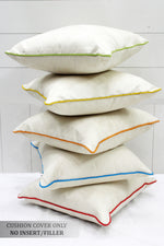 AURAVE Suede Velvety Cushion Cover for Sofa/Couch (16 X 16 inches)- 5 Pieces Set - Cream