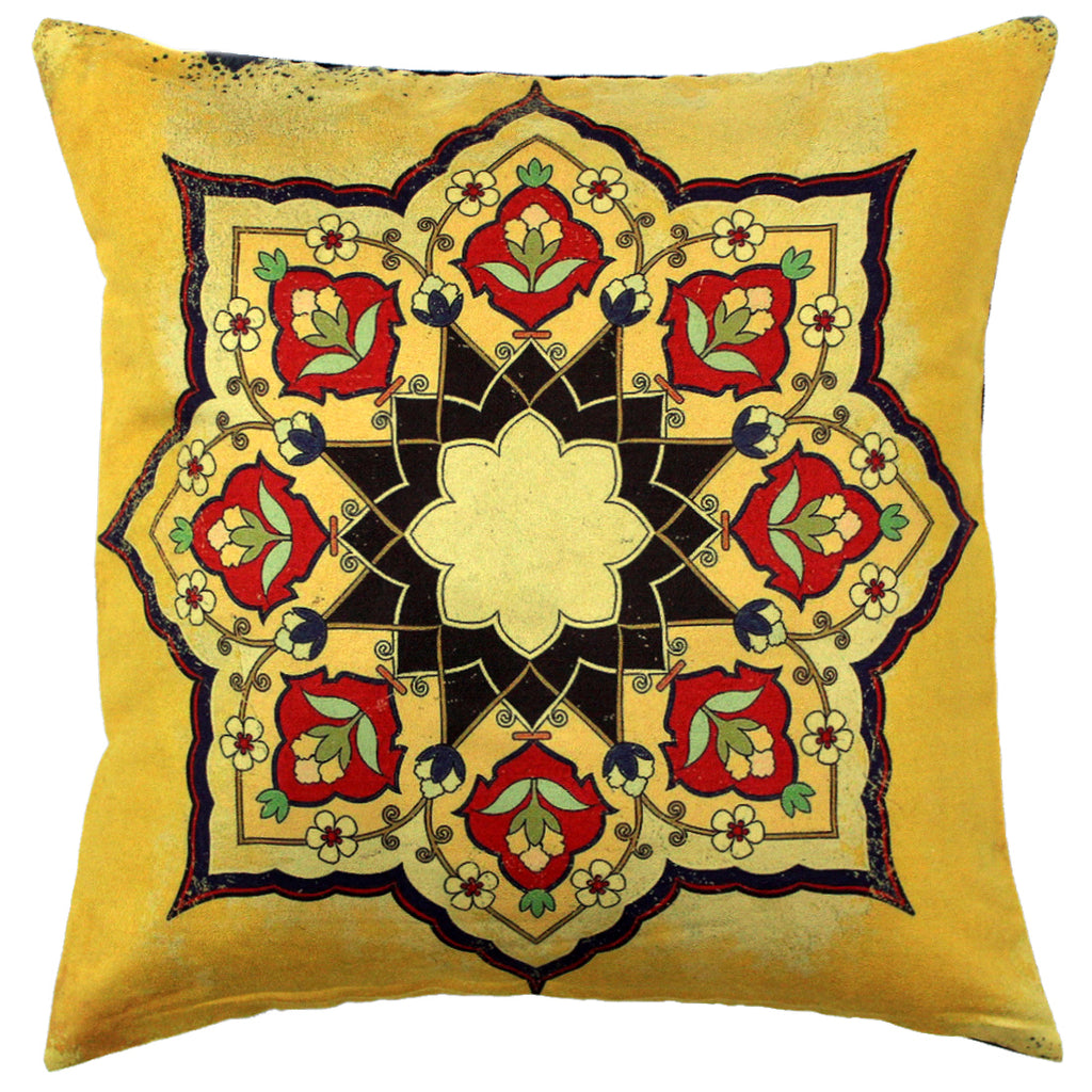AURAVE Suede Digital Printed Luxurious Cushion Cover 1 Piece for Sofa/Couch - 16 x 16 inch