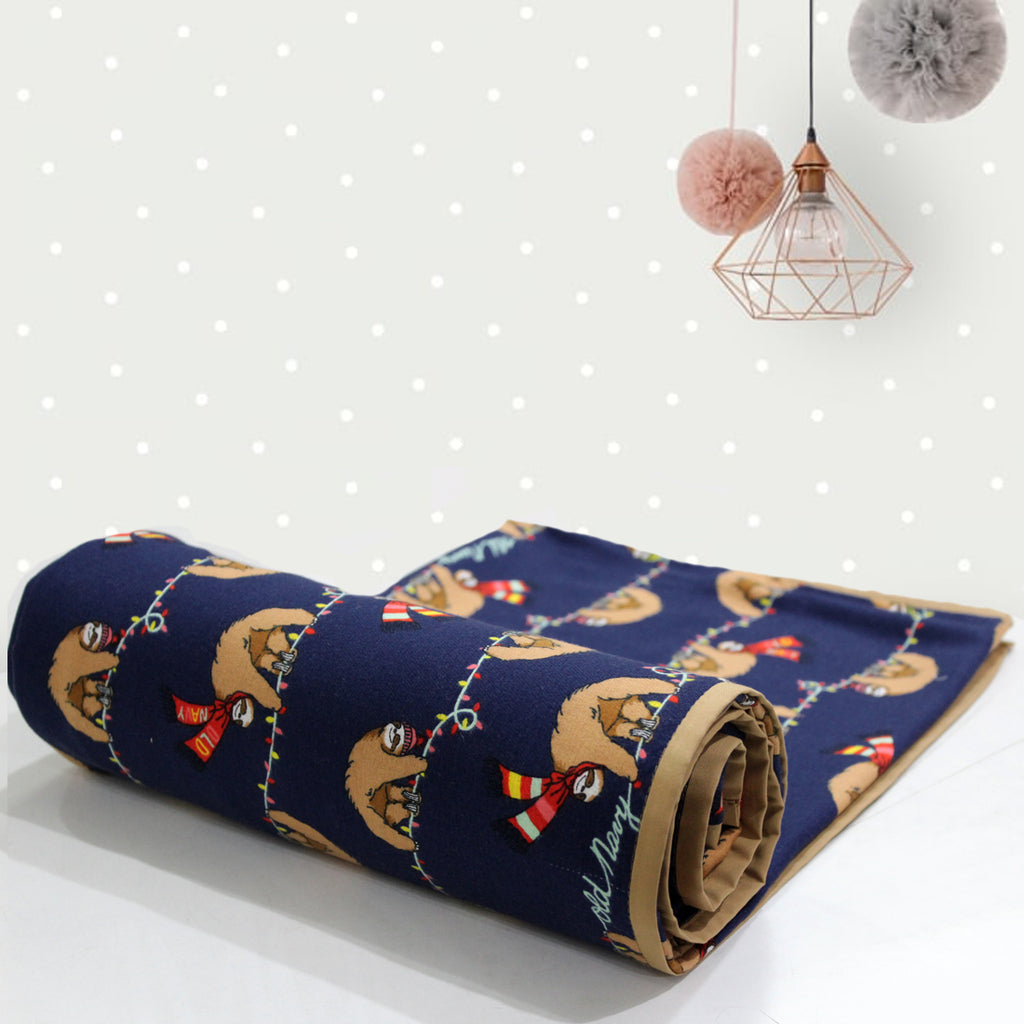 AURAVE Multicolor Cotton Flannel Print 1 Pc Baby Dohar Blanket (0 to 2 Years)