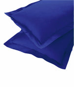 AURAVE Excel Cotton 2 Pieces Plain Pillow Cover Set - 18 X 27 inches, Marine Blue