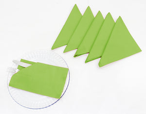 "AURAVE Cotton 220 TC Table Napkins (16""x16""_Fluorescent Green)"