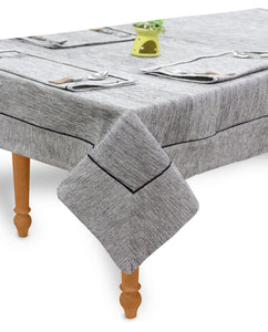 "AURAVE Woven Cotton 200 TC 60""x90"" Plain Table Cover (Grey)"