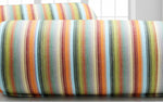 AURAVE Multicolor Stripes Cotton 2 Pcs Bolster Covers