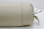 Cotton 2 Pieces Plain Bolster Cover Set, Khaki