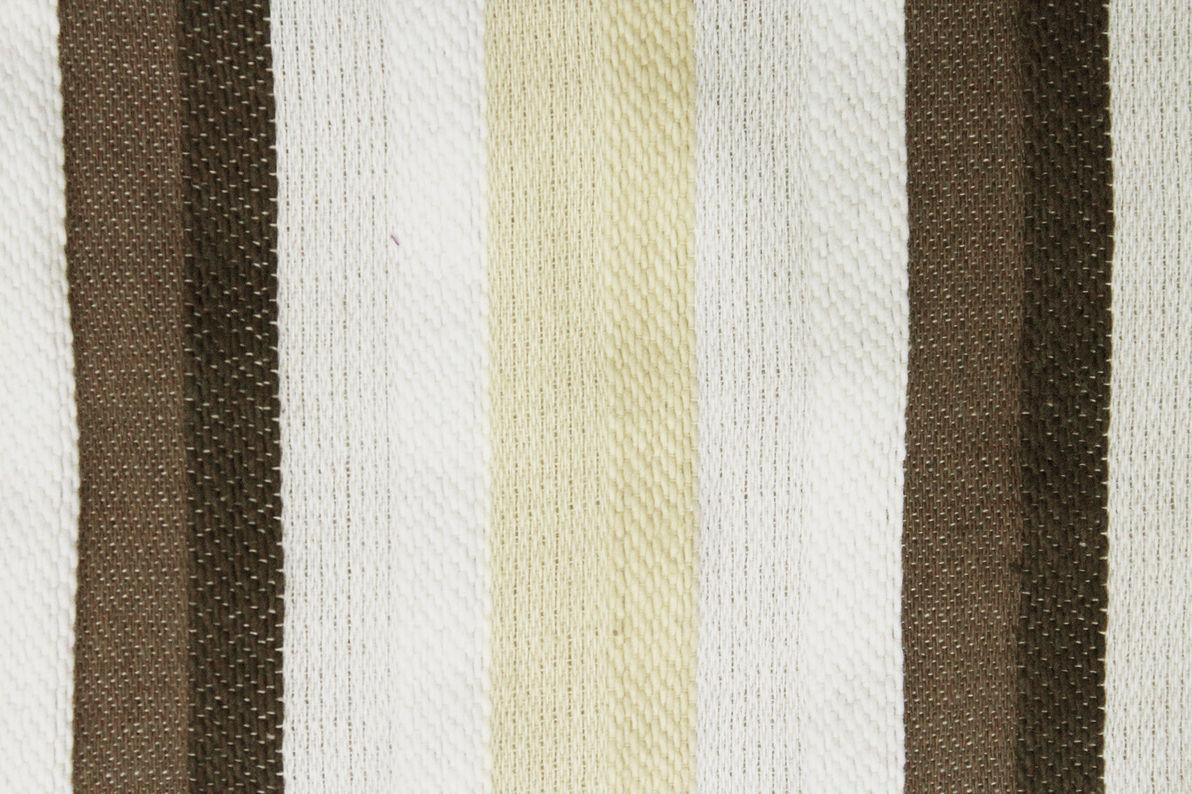 Woven Embossed Stripe Cotton Cushion Cover - Brown & Beige
