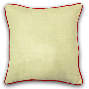Woven Cotton Corded Stripe Cushion Cover - Cream