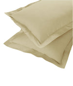 AURAVE Excel Cotton 2 Pieces Plain Pillow Cover Set - 18 X 27 inches, Khaki