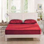 Waterproof Cotton Terry Mattress Protector - Maroon