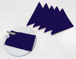 "AURAVE Cotton 220 TC Table Napkins (16""x16""_Navy Blue)"