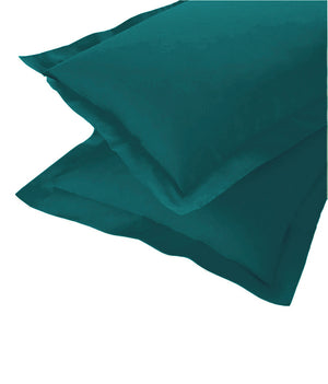 AURAVE Excel Cotton 2 Pieces Plain Pillow Cover Set - 18 X 27 inches, Peacock Blue