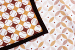 AURAVE Riva Geometrical Cotton 1 Pc AC Dohar, Brown