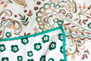 AURAVE Riva Paisley pattern Cotton 1 Pc AC Dohar, Green