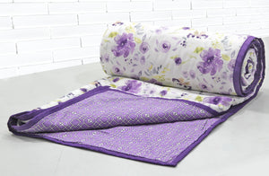 AURAVE Riva Floral Cotton 1 Pc AC Dohar, Purple