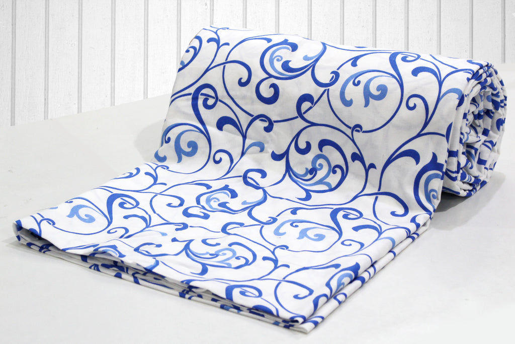 AURAVE Cotton 144 TC Duvet Cover (Blue)