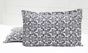 AURAVE Cotton 144 TC Damask Bedsheet (Black)