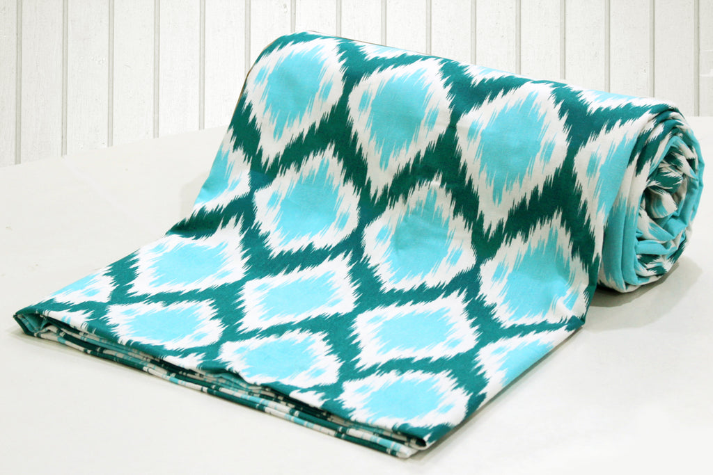 AURAVE Cotton 144 TC Duvet Cover (Aqua)
