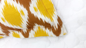 AURAVE Prism Cotton 2 Pieces Printed Pillow Cover Set - 18 X 27 inches, Mustard