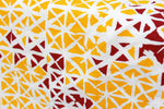 Geometrical Print 2 Pieces Cotton Bolster Covers - Mustard
