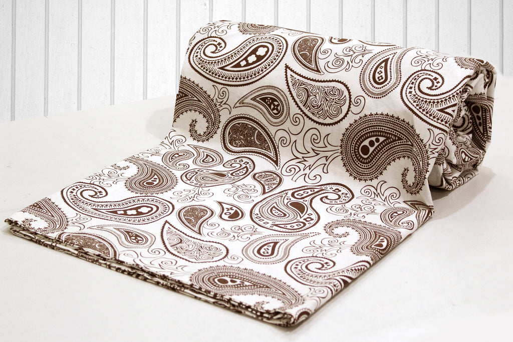 AURAVE Cotton 144 TC Duvet Cover (Brown)