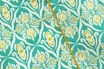 "AURAVE Cotton 144 TC Bolster Cover (15""x30""_Aqua)"