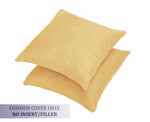 AURAVE Suede Luxurious Microfibre Cushion Cover 2 pcs for Sofa/Couch - Gold