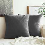 AURAVE Suede Luxurious Microfibre Cushion Cover 2 pcs for Sofa/Couch - Charcoal