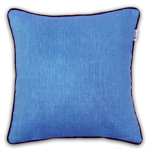 Woven Cotton Corded Stripe Cushion Cover - Sky Blue