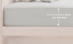 Plain Cotton Satin 400 TC Fitted Bedsheet - Double/King - SILVER