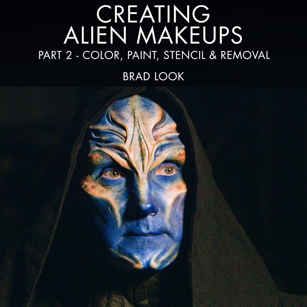 Creating Alien Makeups Part 2: Color, Paint, Stencil & Removal
