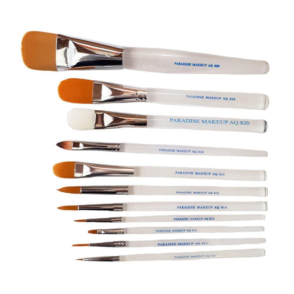 Paradise Makeup AQ Brushes - Face and Body Painting, Mehron - Stage & Screen FX ...