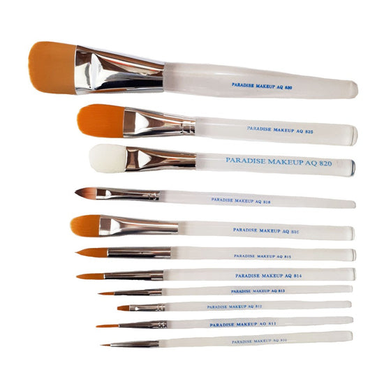 Paradise Makeup AQ Brushes - Face and Body Painting, Mehron - Stage & Screen FX