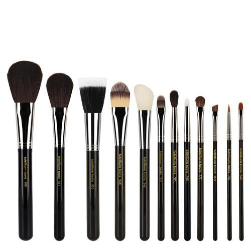 Bdellium Maestro Complete 12 pc Brush Set w/ Roll Up Pouch