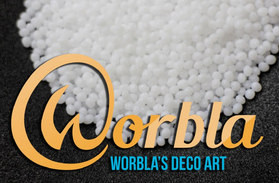 Worbla's Deco Art - White Thermoplastic Pellets