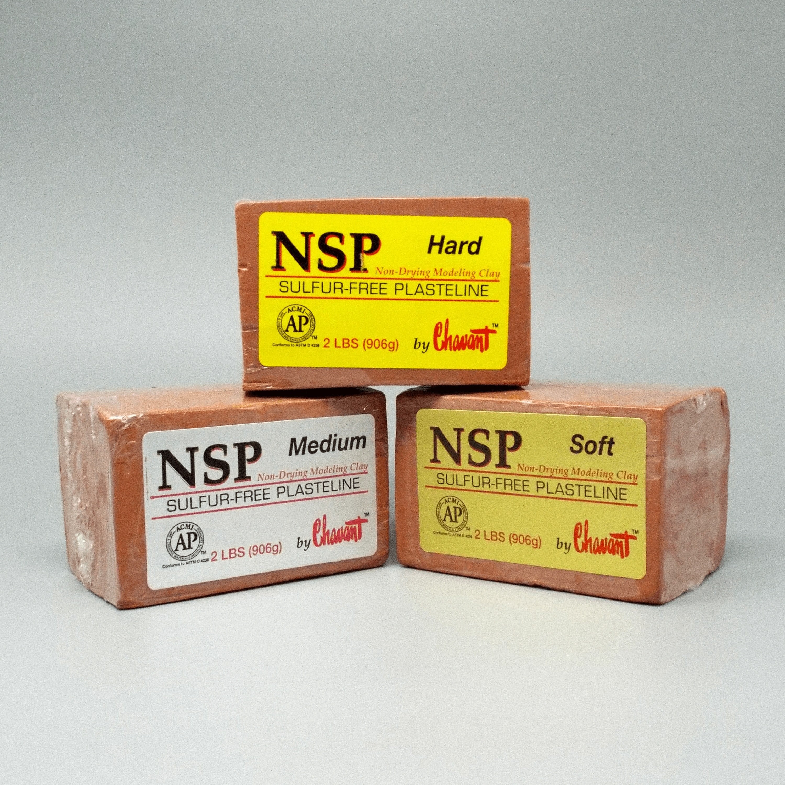 Chavant NSP - Non Sulfur Based Fine Sculpting Clay - Green or Brown