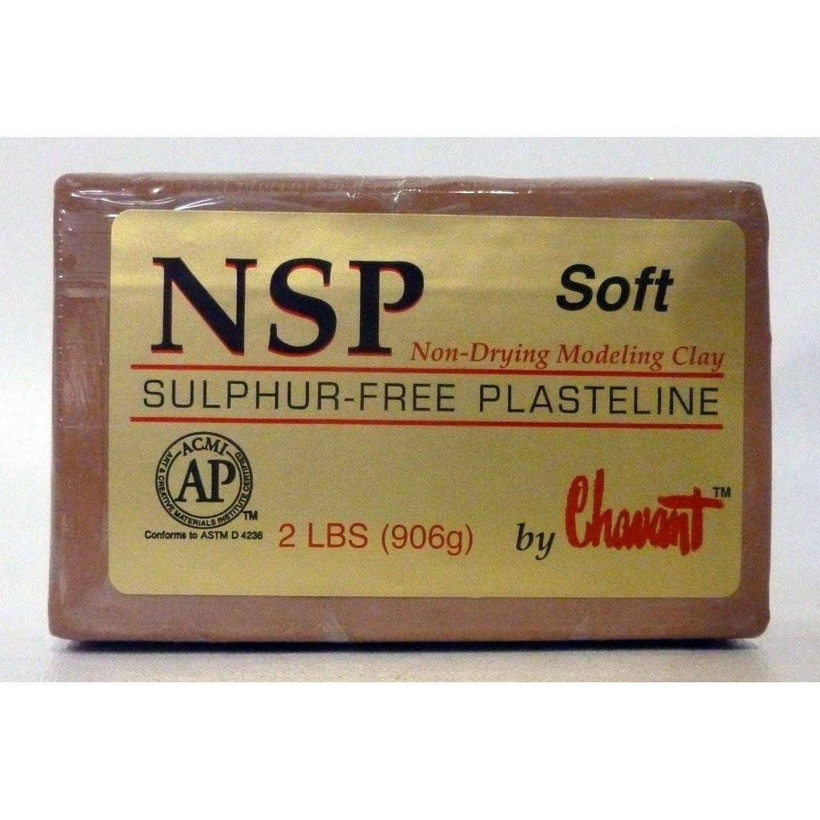 Clay - Chavant NSP - Non Sulfur Based Fine Sculpting Clay - Green Or Brown
